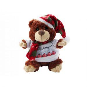 kerstbeer knuffel bedrukken