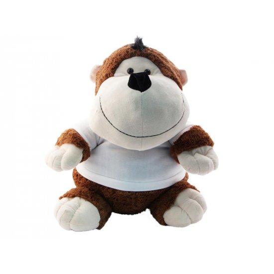 knuffel aapje met naam of foto